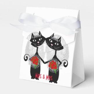 Mrs + Mrs Lesbian Marriage Cat Cute Brides Wedding Wedding Favour Boxes