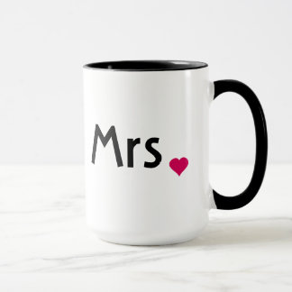 Mrs. mug with red love heart