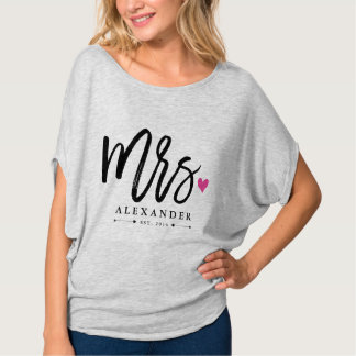 Mrs. (Name) Est. Your Wedding Year Tshirt