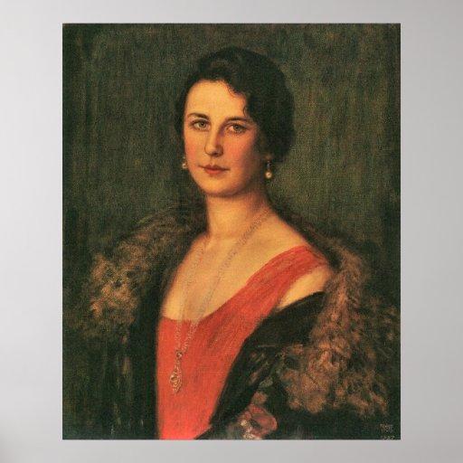 Mrs. Patzak by Franz von Stuck Poster