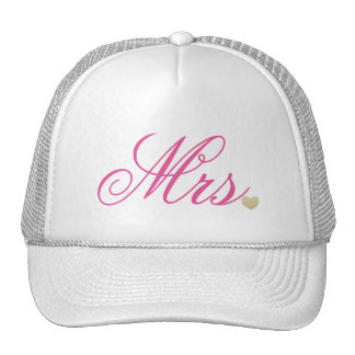Mrs.  Pink Text Design Cap