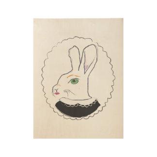 Mrs. Rabbit wood poster