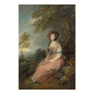 Mrs. Richard Brinsley Sheridan, 1785- 87 Poster