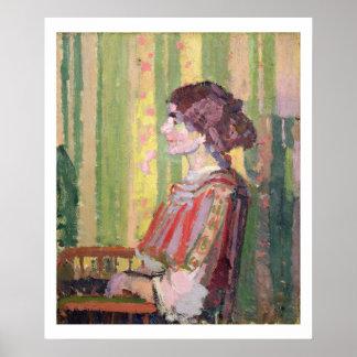Mrs Robert Bevan, c.1913 (oil on canvas) Poster
