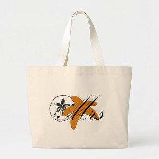 Mrs Sand Dollar Starfish Tote Bags