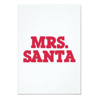 Mrs Santa Claus christmas Personalized Invitations