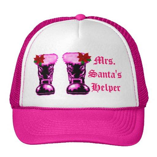 Mrs. Santa's Helper Boots Hat