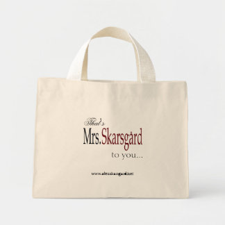 """Mrs. Skarsgard"" Tote bag"