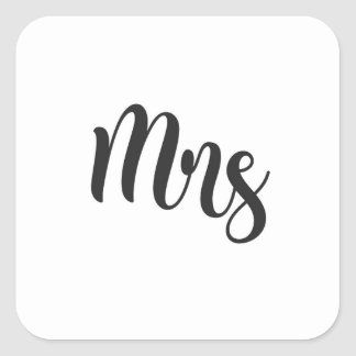 Mrs Square Sticker
