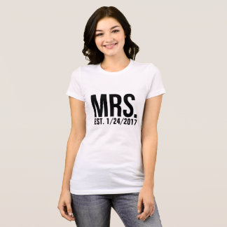 Mrs. T-Shirt - Customizable Wedding Date!