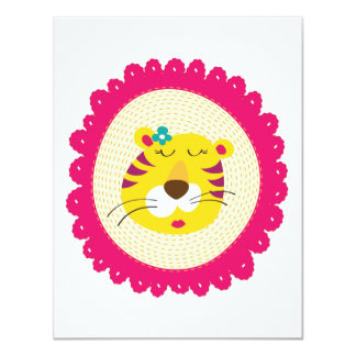 Mrs Tiger 11 Cm X 14 Cm Invitation Card