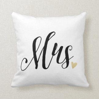 Mrs. Wedding,Anniversary Throw Pillow
