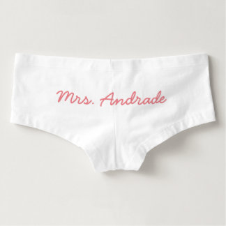 Mrs Wedding Knickers Custom Wedding Day Panties Hot Shorts