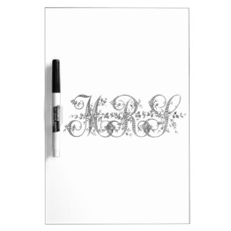 MRS Wedding Monogram Dry-Erase Whiteboard