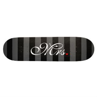 Mrs. Wife Bride His Hers Newly Weds Skate Board Decks