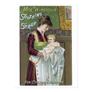 Mrs Winslows Soothing Syrup 2 Postcard