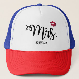 Mrs. with a kiss trucker hat
