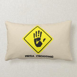 MRSA Crossing Sign Lumbar Cushion