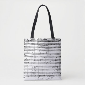 Ms.1548  Ouverture of the opera 'Don Giovanni' Tote Bag