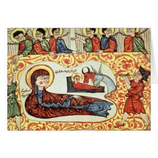 Ms 404 fol.1v The Nativity, from a Gospel Card