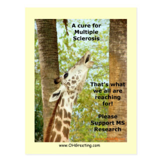 "MS Awareness Postcard ~ ""Reaching"""