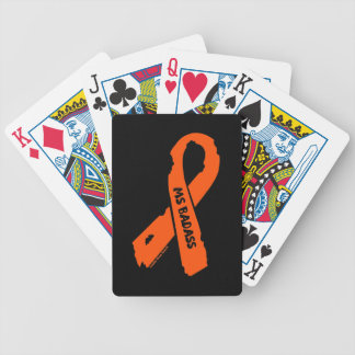 MS BADASS/ torn ribbon Bicycle Playing Cards