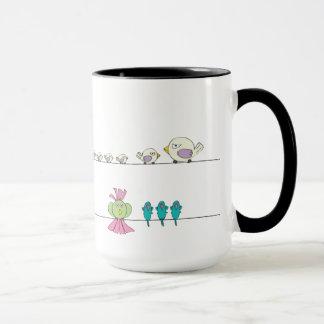 Ms. Bikini & Birds On A Line Mug