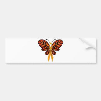 MS Butterfly Bumper Sticker