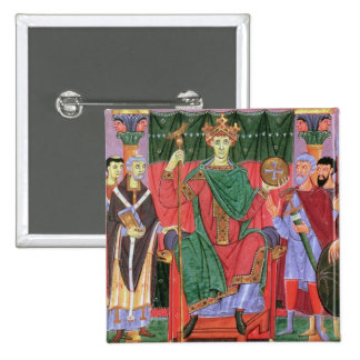 Ms Cim.4453 f.42r Holy Roman Emperor Otto III Enth 15 Cm Square Badge