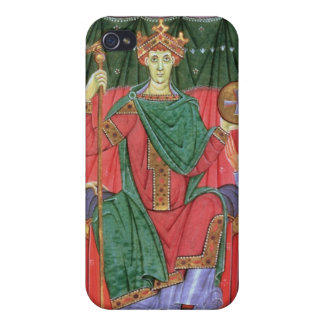 Ms Cim.4453 f.42r Holy Roman Emperor Otto III Enth Covers For iPhone 4