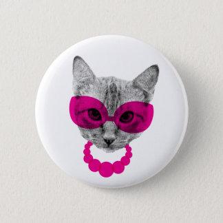 Ms. Fancy Cat 6 Cm Round Badge