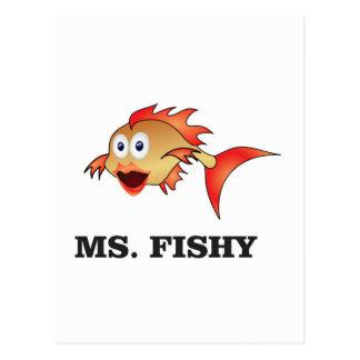 ms. Fishy Postcard