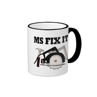 Ms Fix It Ringer Coffee Mug