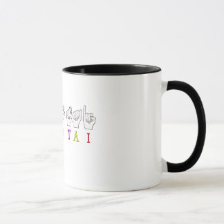 MS HO TAI FINGERSPELLED ASL NAME SIGN MUG