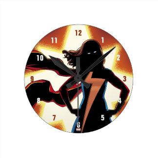 Ms. Marvel Comic #2 Round Clock