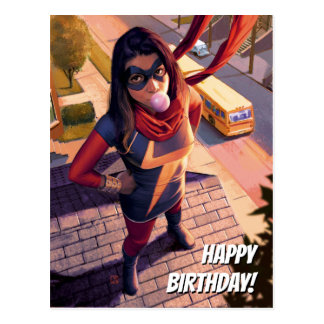 Ms. Marvel Comic #2 Variant Postcard