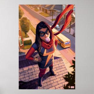 Ms. Marvel Comic #2 Variant Poster
