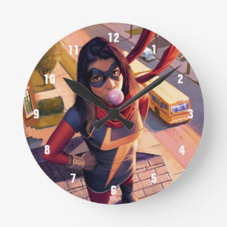Ms. Marvel Comic #2 Variant Round Clock