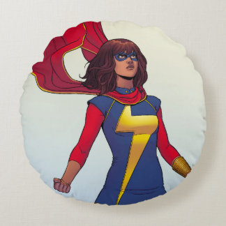 Ms. Marvel Comic #3 Round Cushion