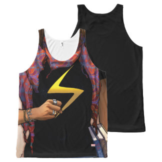 Ms. Marvel Comic Cover #1 All-Over Print Singlet