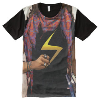 Ms. Marvel Comic Cover #1 All-Over Print T-Shirt