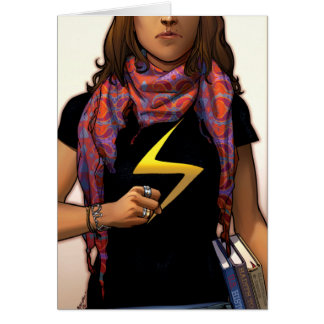 Ms. Marvel Comic Cover #1 Card