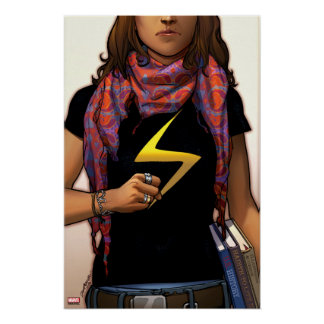Ms. Marvel Comic Cover #1 Poster