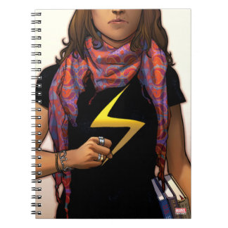 Ms. Marvel Comic Cover #1 Spiral Notebook