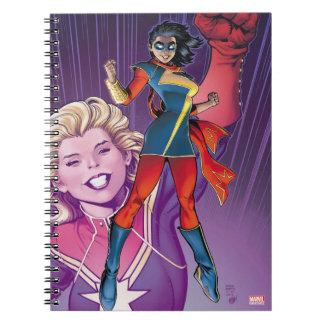 Ms. Marvel Comic Cover #1 Variant Notebooks