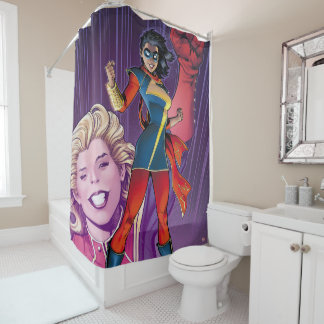 Ms. Marvel Comic Cover #1 Variant Shower Curtain