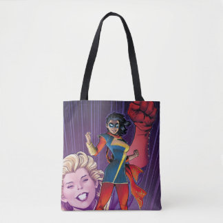Ms. Marvel Comic Cover #1 Variant Tote Bag