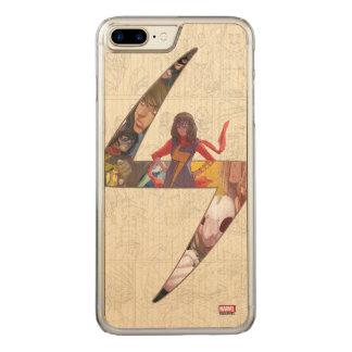 Ms. Marvel Comic Panel Logo Carved iPhone 8 Plus/7 Plus Case