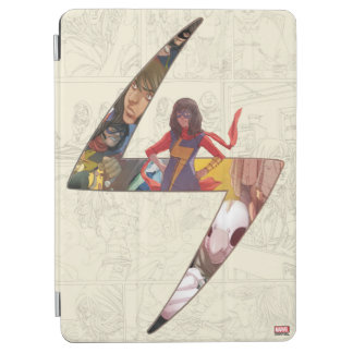 Ms. Marvel Comic Panel Logo iPad Air Cover