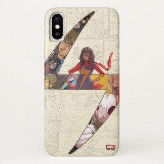 Ms. Marvel Comic Panel Logo iPhone X Case